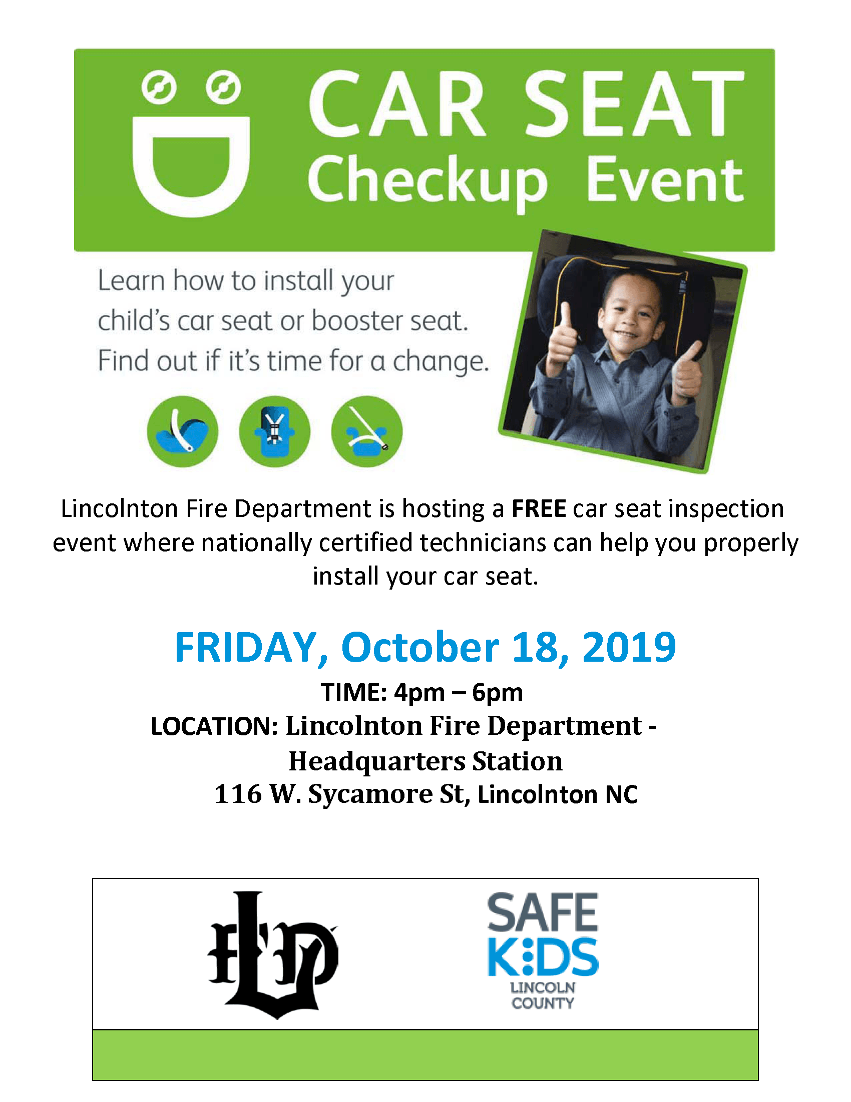 Car Seat Event Flyer 10-18-19