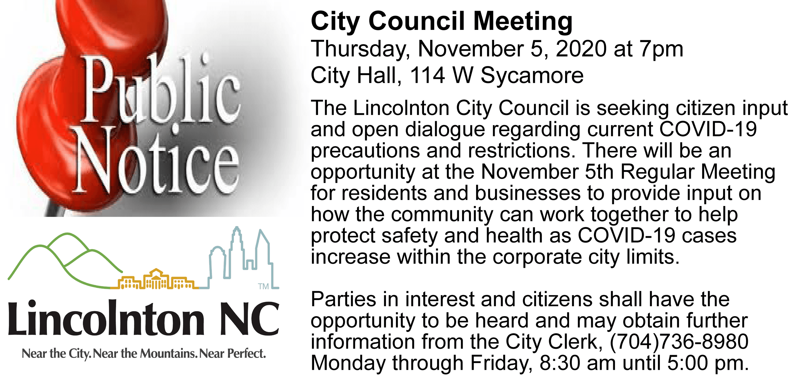 11.5.20 council mtg notice - citizen mask input